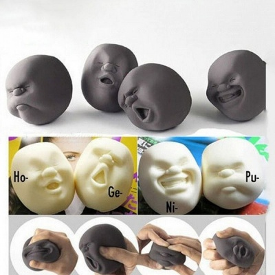 New Human Emotion Face Vent Ball Toys Resin Relax Pop Adult Novelty Toys Stress Relieving Anti-stress ball toys Gift CX674508 White 2