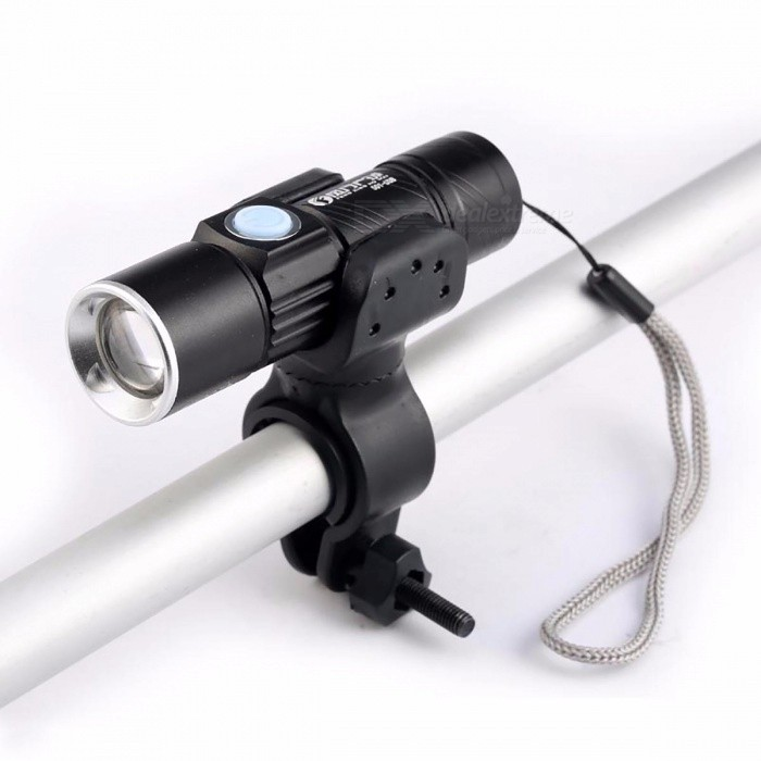 Waterproof Super Bright 3800 Lumens Bicycle Light, USB Rechargeable Zoom Flashlight Torch w/ Bike Mount BlackBike Light<br>DescriptionBrand Name: TRLIFEMounting Placement: HandlebarPower Supply: Battery<br>