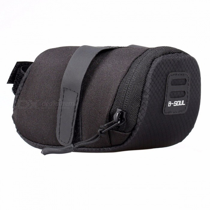 Mini 600D Nylon Waterproof Ultra-Light Bike Cycling Storage Saddle Bag, Bicycle MTB Seat Tail Rear Zipper Pouch BlueBike Bags<br>DescriptionFunction: With Lidis_customized: YesBrand Name: B?SOULMaterial: Other<br>