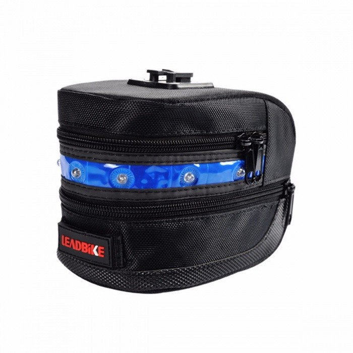 Practical Leadbike Bicycle Saddle Bag Warning Light, Outdoor Cycling Mountain Bike Back Seat Tail Pouch LED Taillight blueBike Bags<br>DescriptionMounting Placement: SeatpostPower Supply: BatteryBrand Name: leadbike<br>