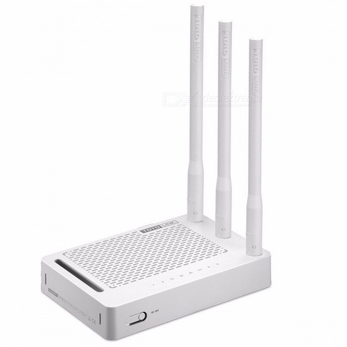 TOTOLINK N302R+ 300Mbps WiFi Router, Wireless Router with 3 pcs of 5dBi Antennas, One Page Setup, with Repeater /  AP Features EU plug without boxRouters<br>Description<br><br><br><br><br>Function: QoS,Firewall<br><br><br>Wi-Fi Transmission Standard: 802.11n<br><br><br><br><br>With Modem Function: No<br><br><br>Supports WPS: Yes<br><br><br><br><br>Standards And Protocols: Wi-Fi 802.11g,Wi-Fi 802.11n,Wi-Fi 802.11b<br><br><br>Wi-Fi Supported Frequency: 2.4G<br><br><br><br><br>Max. LAN Data Rate: 100Mbs<br><br><br>LAN Ports: 4<br><br><br><br><br>Wired Transfer Rate: 10/100Mbps<br><br><br>Package: Yes<br><br><br><br><br>WAN Ports: 1 x10/100Mbps<br><br><br>2.4G Wi-Fi Transmission Rate: 300 Mbps<br><br><br><br><br>Supports WDS: Yes<br><br><br>Application: Home<br><br><br><br><br>Brand Name: TOTOLINK<br><br><br>Type: Wireless<br><br><br><br><br><br><br><br>N302R Plus is a 300Mbps wireless router which allows users to access Internet by DHCP/PPPoE/Static IP WAN method. Equipped with three high gain antennas, it provides the most stable and high speed Wi-Fi connection. Besides, Wireless Multibridge and VPN Server function make N302R Plus be used as a Repeater or a VPN Server. So it is suitable for general home use especially VPN required small office<br><br><br><br><br><br><br><br><br>300Mbps Wireless N Speed<br><br><br>N302R Plus complies with wireless 11n standard and delivers Wi-Fi speed up to 300Mbps, satisfying all internet activities like network&amp;nbsp; communication,online gaming and video streaming<br><br><br>&amp;nbsp;<br><br><br>Stable Wireless Performance<br><br><br>With three high performance antennas, Wi-Fi transmission for long distance is more stable and sensitive. No matter what your home shape and size is, N302R Plus ensures wireless connectivity throughout your home and all Wi-Fi devices.&amp;nbsp;<br><br><br>&amp;nbsp;<br><br><br>Easy Setup<br><br><br>For Wi-Fi devices first connected to N302R Plus, the User Log In page will show up automatically withou