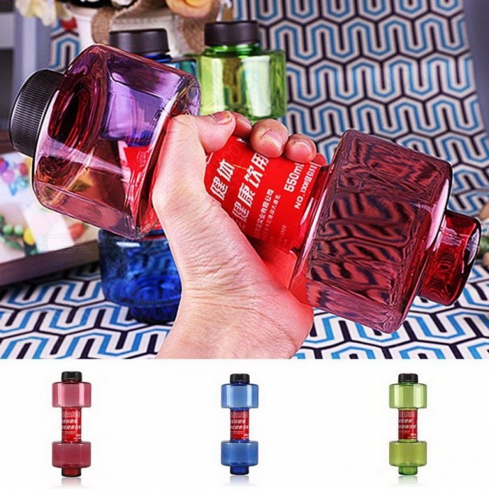 Creative Multifunctional Dumbbell Cup, Fitness Water Bottle Plastic Cup, Sealed Leakproof 550ML Convenient Sport Bottle GreenDescriptionBrand Name: TONQUUDepartment Name: MenType: Spray-PaintFunction: Comprehensive Fitness ExerciseApplication: Other<br>
