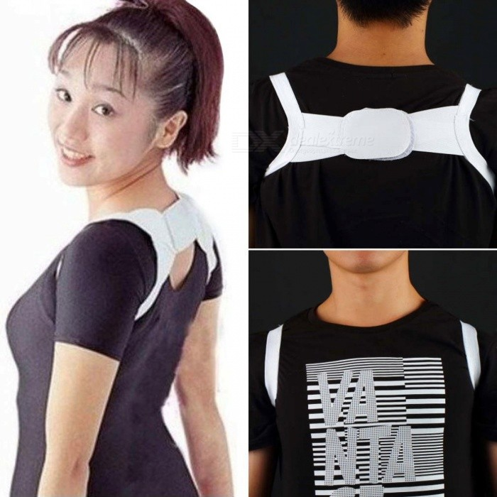High Elastic Comfortable Correction Brace Band Belt, Posture Corrector, Body Shoulder Back Support for Women WhiteShoulder &amp; Back &amp; Chest Supports<br>Description<br><br><br><br><br>Age: Adult<br><br><br>Brand Name: Aolikes<br><br><br><br><br><br><br><br><br><br><br><br>This Posture corrector is easy to use, <br>comfortable, elastic .Helps to correct poor posture, keep shoulders <br>back, correct scoliosis and other malformed spinal curvatures.<br><br><br>Brand new &amp;amp; high quality<br> Easy to use, comfortable, elastic<br> Relieves posture related back pains, shoulder pains, etc... <br><br><br>&amp;nbsp;<br> Material: polyester<br> Suitable for shoulders 35-45cm in width<br> Notes: Please wash it by hands and air dry it.<br> Original box: NO<br> Color: White<br>