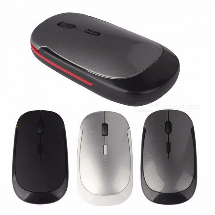 BASIX Portable 1600 DPI 4-Button 2.4Ghz Wireless Silent Optical Mouse Mice for Mac PC Laptop Computer