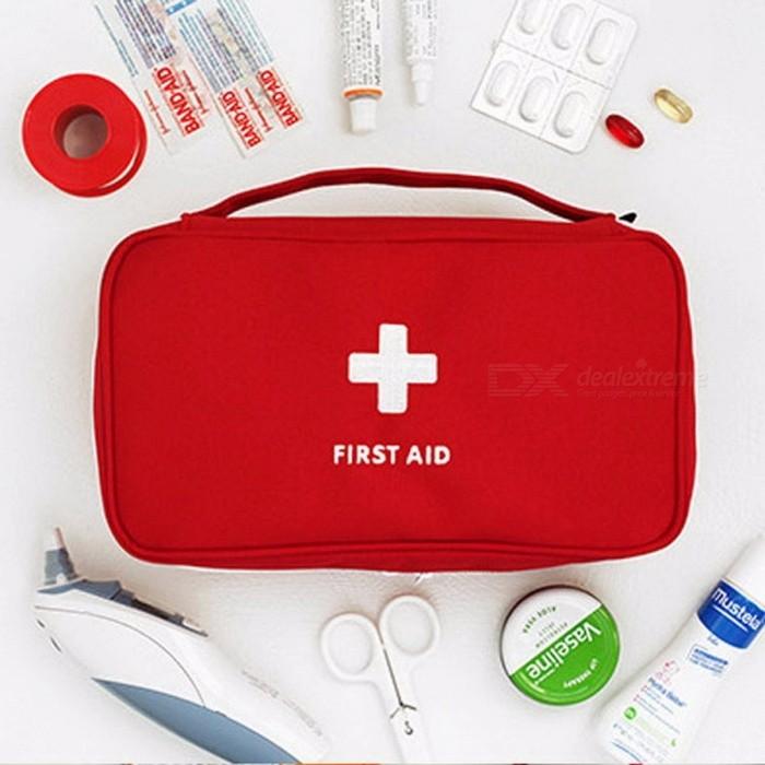 Outdoor Travel Large Medicine Bag Camping Pill Storage Bag First Aid Emergency Case Survival Kit Case RedOther Security Products<br>DescriptionBrand Name: Safurance<br>