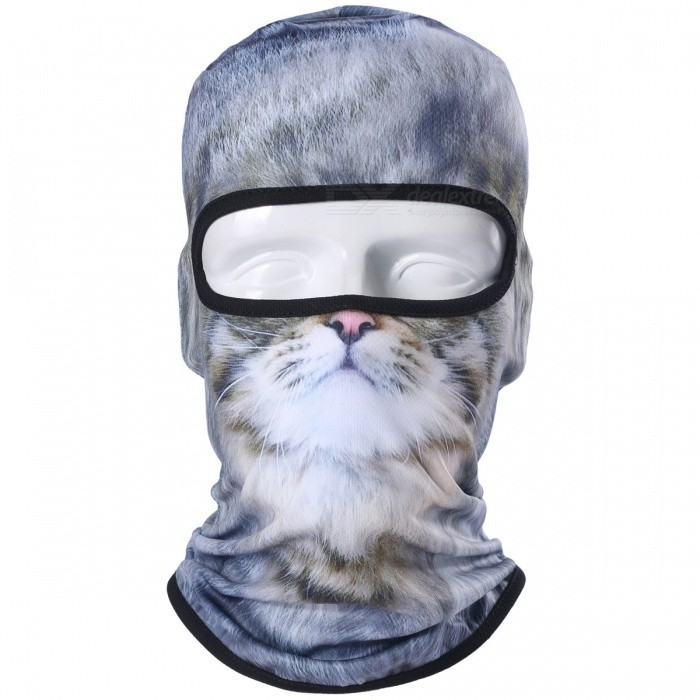 3D Animal Cat Dog Tiger Style Balaclava Bicycle Bike Hat, Snowboard Party Halloween Helmet Liner Winter Warm Full Face Mask
