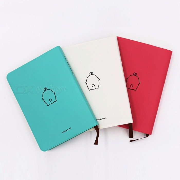 ... Fromthenon Cute Kawaii Notebook, Cartoon Molang Diary Journal Planner Notepad w/ Colorful Inner for ...