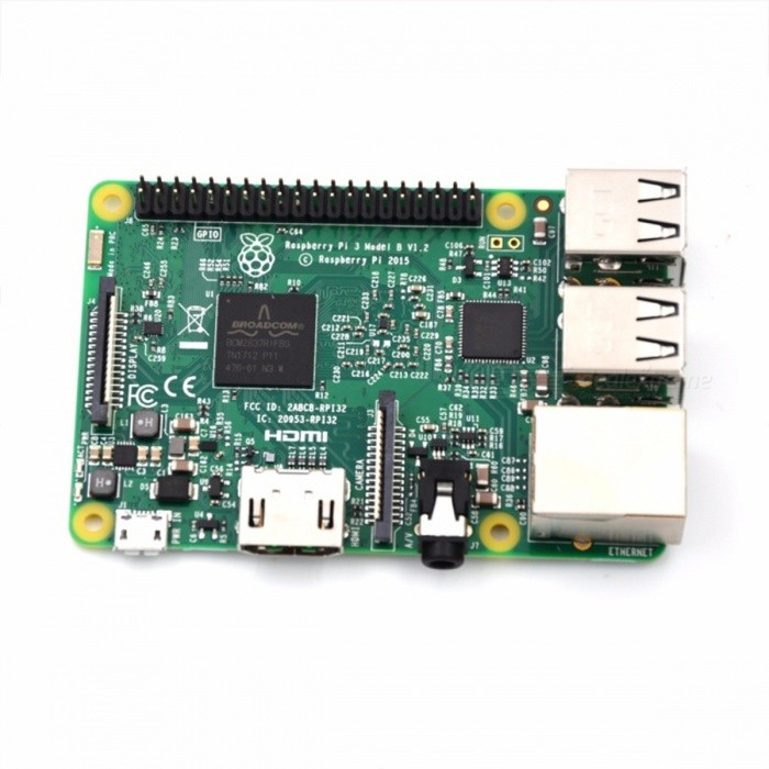 Raspberry Pi 3 Model B Board + 2Pcs Heat Sink + 5V 2.5A Power Adapter AC Power Supply, Supports 1GB RAM, Wi-Fi, Bluetooth Ras Pi 3 for sale in Bitcoin, Litecoin, Ethereum, Bitcoin Cash with the best price and Free Shipping on Gipsybee.com