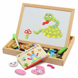 Magnetic-Drawing-Writing-Board-Puzzle-Double-Easel-Wooden-Intelligence-Development-Toy-Gift-for-Kids-Children