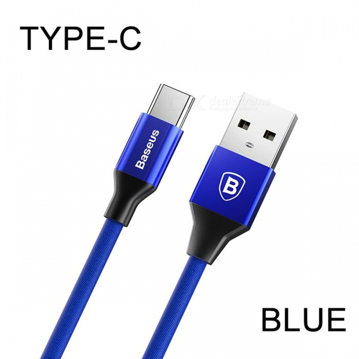 Baseus 3A USB Type-C Fast Charging Data Cable for Samsung Note 8 S8 Xiaomi Mi5 Mi6 Mi A1 Mobile Phone 1.2m/BlackCables<br>DescriptionBrand Name: BASEUSType: Type CHas Retail Package: YesCompatible Brand: SamsungFeatures: Reversible<br>