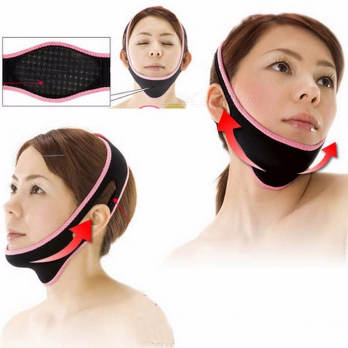 Comfortable Powerful 3D Face-Lift Tool Device, Slimming Thin Face Correction Bandages, Face Mask for Sleeping Black + PinkOther Cosmetic Tools<br>DescriptionItem Type: Braces &amp; SupportsBrand Name: JINKOUMaterial: OtherEffect: Other<br>