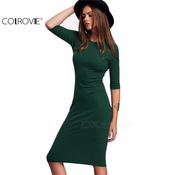 437d0c562675 Casual Dresses - COLROVIE Summer Style Women Bodycon Work Dresses ...
