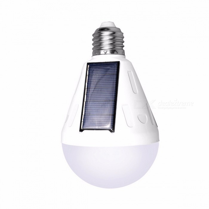 9W E27 LED Solar Powered Light Bulb Outdoor Energy Saving Portable Camping Light Waterproof LED Bulb Lamp 9W/cant change by USBE27<br>Description<br><br><br><br><br>Power Source: Solar<br><br><br>Base Type: None<br><br><br><br><br>Body Material: ABS<br><br><br>Light Source: LED Bulbs<br><br><br><br><br>Protection Level: IP65<br><br><br>Style: Cottage<br><br><br><br><br>Is Dimmable: No<br><br><br>Is Bulbs Included: Yes<br><br><br><br><br>Voltage: 6V<br><br><br>Usage: Emergency<br><br><br><br><br>Brand Name: ZACCO<br><br><br>Certification: CCC<br><br><br><br><br>Solar Cell Type: Lithium Battery<br><br><br><br><br><br><br><br><br><br><br><br>Solar panel:9W<br><br>Size:width:80mm,height:130mm<br><br>USB 5V charging time :5 hours (only TB18 lamp can support) <br><br>Solar charginf time :5-10h<br><br>Emergency time :3-5h<br><br>Battery capacity :TB25:300MA per Stars(3 stars),TB18:1200MA<br><br>Material:ABS PC<br><br>Protection:IP65 waterproof<br>
