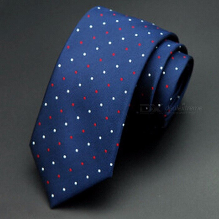Buy GUSLESON 1200 Needles 6cm Men's Ties, New Fashion Dot Business Style Neckties, Corbatas Gravata Jacquard Slim Tie  09 with Litecoins with Free Shipping on Gipsybee.com