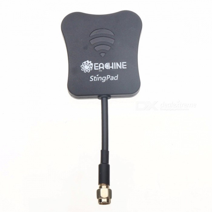 Eachine StingPad 5.8G 16dBi High Gain Flat Panel FPV Antenna SMA/RP-SMA for Receiver RC Drone Quadcopter Spare Part Black (SMA Male)Other Accessories for R/C Toys<br>Description<br><br><br><br><br>Use: Vehicles &amp;amp; Remote Control Toys<br><br><br>Material: Composite Material<br><br><br><br><br>RC Parts &amp;amp; Accs: Antennas<br><br><br>Brand Name: EACHINE<br><br><br><br><br>Technical parameters: Value 10<br><br><br>For Vehicle Type: Helicopters<br><br><br><br><br>Four-wheel Drive Attributes: Other<br><br><br>Upgrade Parts/Accessories: Other<br><br><br><br><br>Tool Supplies: Other<br><br><br>Remote Control Peripherals/Devices: Other<br>
