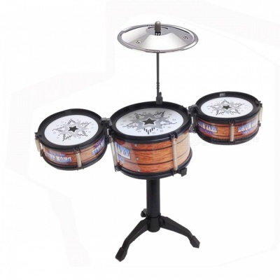 GLOBAL DRONE DIY Jazz Drum Toy Cymbal Sticks Rock Set Musical Hand Drum Funny Drum Gift Toy for Kids Children Jazz Drum