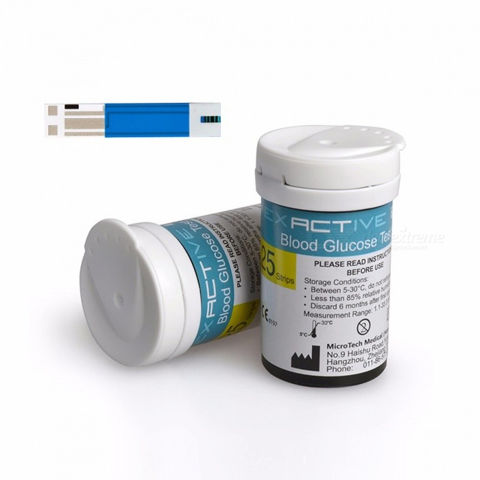 50Pcs Tablets Test Strips, Blood Lancets for Blood Glucosemeter, Special Test Paper Expendables Necessary Device Blue