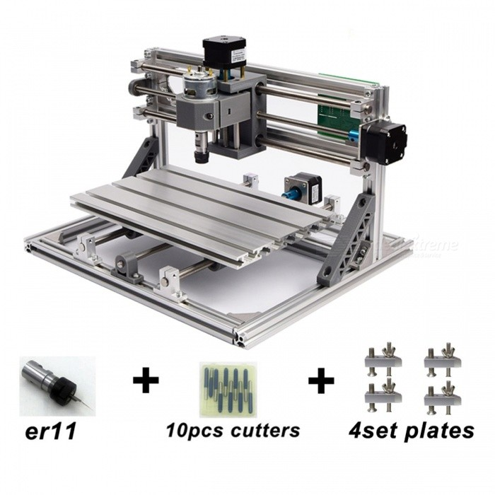 CNC3018 with ER11 DIY Mini CNC Engraving Machine Laser Engraving PCB PVC Milling Machine Wood Router Best Advanced Toys 3018 2500mW add ER11Other Tools<br>Description<br><br><br><br><br>Brand Name: MOSKI-MSQ<br><br><br>CNC or Not: CNC<br><br><br><br><br>Condition: New<br><br><br><br><br><br><br><br><br><br><br><br>IMPORTANT NOTICE<br>1. All the laser used on this CNC machine cannot work on any metal. The laser cannot cut plywood. <br>2. ER11 needs shrink fitting. Both the spindle and ER11 have the correct diameter, but ER11 is designed to be minus tolerence to spindle so you cannot put it on directly.<br>