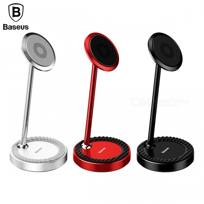 Baseus Magnetic Desk Desktop Mount Phone Stand Holder for IPHONE Samsung Xiaomi Mobile Phone, Tablet PC BlackMounts &amp; Holders<br>Description<br><br><br><br><br>Brand Name: BASEUS<br><br><br>Charger: No<br><br><br><br><br>Compatible Brand: Universal<br><br><br>Material: Aluminium Alloy<br><br><br><br><br>Has Speaker: No<br><br><br>Use: Desk<br><br><br><br><br>Magnetic: Yes<br><br><br><br><br><br><br><br><br><br>Type: Desktop Phone Holder <br><br><br>Technology: All-Metal / 360 Rotation Adjustable / Recyclable Rubber <br><br><br>Size: 14.8 cm x 6.9 cm ( H x W ) <br><br><br>Installation method: Desk Mount <br><br><br>Applicable: Mobile Phone / Tablet <br><br><br>Feature 1: Mount Holder <br><br><br>Feature 2: Desk Mount Holder <br><br><br>Feature 3: Phone Mount Holder <br><br><br>Feature 4: Holder Stand <br><br><br>Feature 5: Mobile Phone Holder Stand<br>