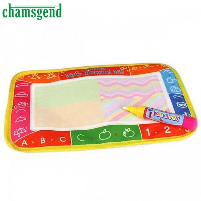 25 x 16.5cm New Water Drawing Painting Writing Mat Board Magic Pen Doodle Toy Gift for Kids, Children ColorfulEducational Toys<br>Description<br><br><br><br><br>Brand Name: YIQU<br><br><br>Gender: Unisex<br><br><br><br><br>Material: Cloth<br><br><br>Age Range: & 3 years old<br><br><br><br><br>Classification: Paint Learning Notebook/Coloring Notebook<br><br><br>Type: Drawing Board<br><br><br><br><br><br><br><br><br><br><br><br><br><br>Feature:<br><br><br><br><br>100% brand new and high quality. <br><br><br><br><br><br><br>Quantity: 1 <br><br><br><br><br><br><br>Draw, Trace Never Make a Mess <br><br><br><br><br><br><br>A Perfect Travel Toy/ Indoor Toy <br><br><br><br><br><br><br>Just Fill the Magic Pen With Water and Draw on the Magic Aquadraw Mat <br><br><br><br><br><br><br>Kids are fascinated as the colorful images Spring Up, the slowly Fade Away <br><br><br><br><br><br><br>So that kids can use the Aquadoodle Mat Again and Agian <br><br><br><br><br><br><br>Material: Cloth <br><br><br><br><br><br><br>Size: 25 x 16.5cm <br><br><br><br><br><br><br>Color: As Shown <br><br><br><br><br>Package Content:<br><br><br><br><br>1X 25 x 16.5cm Water Drawing Painting Writing Mat Board <br><br><br><br><br><br><br>1X Magic Pen<br>