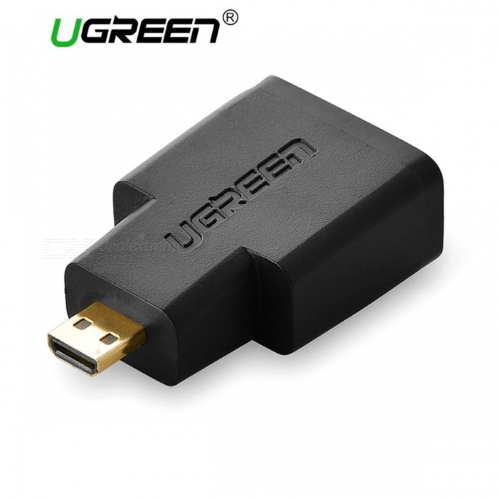 Ugreen HDMI Female to Micro HDMI HDMI Adapter Cable Converter Gold-Plated Connector HD TV Camera HDMI Adapter BlackAV Adapters And Converters<br>Description<br><br><br><br><br>Connector A: HDMI<br><br><br>External Power Source: Yes<br><br><br><br><br>Gender: Male-Female<br><br><br>Brand Name: Ugreen<br><br><br><br><br>Bundle: Bundle 1<br><br><br>Connector B: Optical Interface<br><br><br><br><br>Package: Yes<br><br><br>Amplifier: No<br>