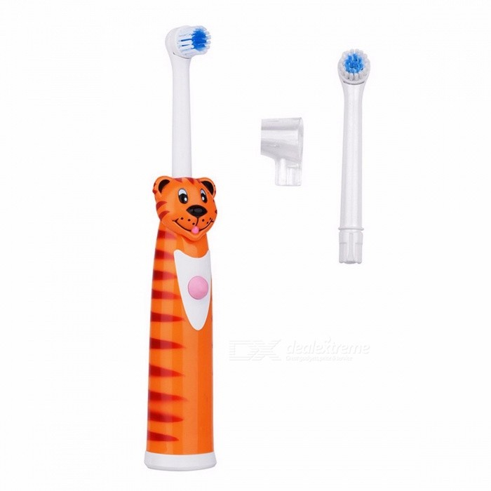 Professional Ultrasonic Vibrating Electric Toothbrush Soft Bristle Silicone Tooth Brush Mouth Clean Baby Oral Hygiene Waterproof Tiger