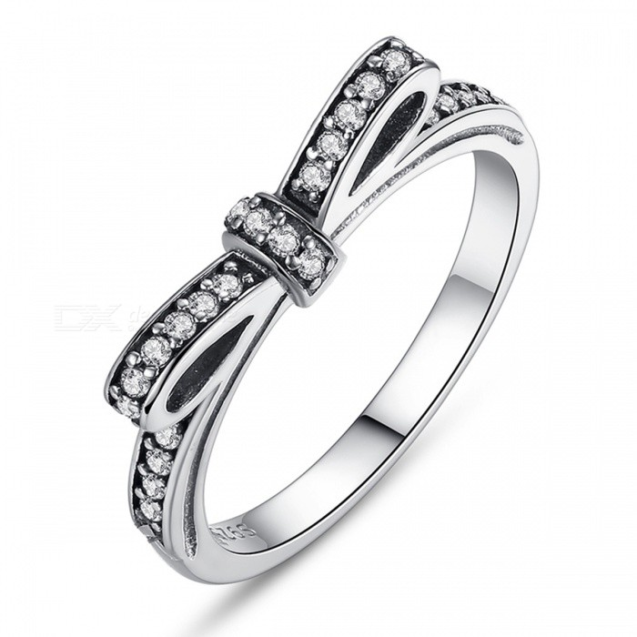 PA7104 Premium 100% 925 Sterling Silver Sparkling Bow Knot Stackable Finger Ring for Women Lady Girls PA7104/8Rings<br>Description<br><br><br><br><br>Item Type: Rings<br><br><br>Fine or Fashion: Fashion<br><br><br><br><br>Style: Classic<br><br><br>Material: Crystal<br><br><br><br><br>Brand Name: Bamoer<br><br><br>Occasion: Engagement<br><br><br><br><br>Shape\pattern: Round<br><br><br>Setting Type: Bezel Setting<br><br><br><br><br>Gender: Women<br><br><br>Metals Type: Silver<br><br><br><br><br>Rings Type: Wedding Bands<br><br><br><br><br><br><br><br><br><br><br><br>This<br> glittering 14K and cubic zirconia bow is a constant reminder of love, <br>and is a perfect choice for all occasions. In an all-gold or mixed <br>sliver-and-gold ring stack, its a standout. Alone, its a sparkling, <br>yet delicate statement.<br>