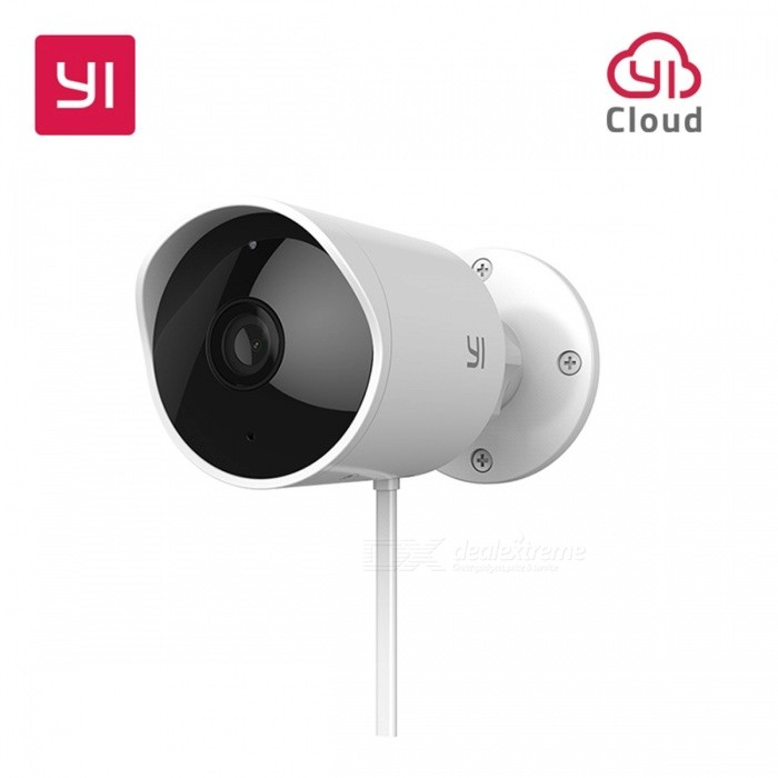 YI 1080P HD Waterproof Outdoor Security Wireless IP Camera Cloud Cam w/ Night Vision, Security Surveillance System - US Plug