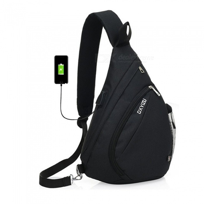 High Quality Large Capacity Sling Bag, Single Shoulder Chest Bag with USB Charging Port for Women and Men PurpleDescription<br><br><br><br><br>Item Type: Handbags<br><br><br>Interior: Interior Compartment,Cell Phone Pocket,Interior Zipper Pocket,Interior Slot Pocket<br><br><br><br><br>Gender: Unisex<br><br><br>Lining Material: Polyester<br><br><br><br><br>Exterior: Silt Pocket<br><br><br>Style: Casual<br><br><br><br><br>Closure Type: Zipper<br><br><br>Shape: Flap<br><br><br><br><br>Pattern Type: Solid<br><br><br>Hardness: Soft<br><br><br><br><br>Main Material: Canvas<br><br><br>Number of Handles/Straps: Single<br><br><br><br><br>Brand Name: SINOKAL<br><br><br>Handbags Type: Chest Bags<br><br><br><br><br>Decoration: None<br><br><br>Occasion: Versatile<br><br><br><br><br><br><br><br><br><br><br><br>This<br> versatile, lightweight, &amp;amp; stylish sling bag holds your essentials <br>without bogging you down! Has more compartments than any other bag and <br>can be worn comfortably multiple ways.<br><br><br>Looking for a sharp-looking, well-made sling bag that doesnt break the bank? Youve found it with the NeatPack Sling Bag!<br><br><br>Trendy and oh-so-functional, our bag is ideal for everyone from the <br>busy professional, mom, or college student to bike messenger or outdoor <br>enthusiast.<br><br><br>Featuring an ergonomic design, this pack is more comfortable to tote <br>around than a cumbersome backpack that can strain your body.<br><br><br>A water bottle mesh pocket with adjustable loop.<br><br><br>Specifications:<br><br><br>- Weight: 1 pounds<br><br><br>- Dimension: 14.5 inches (H) x 10 inches (L) x 5.5 inches (W) (Please allow 1-2mm differs due to manual measurement.)<br><br><br>- Available Colors: Black, Gray, Blue &amp;amp; Purple<br><br><br>- Can hold iPad(below 9.7)<br><br><br>How to carry this bag<br><br><br>The buckle is adjustable, meanwhile each side has a fixed loop. The buckle can be fasten to left or right loop.<br><br><br>According to your using habit, you can carry the bag on the left or right shoulder more comfortable.<br><br><br>Three way to carry it, sling on one shoulder, crossbody to carry it behind your back or in front of chest.<br><br><br>Usage of USB port<br><br><br>Step 1: connect your own power bank with the built-in charging cable of the chest bag.<br><br><br>Step 2: the extra USB port fixed to the right side. Please connect your cellphone with your cable to the USB port.<br><br><br>Only two steps, super convenient to charge your device anywhere.<br><br><br><br><br><br>Package Includes:<br><br><br>1x Sling Bag&amp;nbsp;<br><br><br>1x USB Port Cable<br>