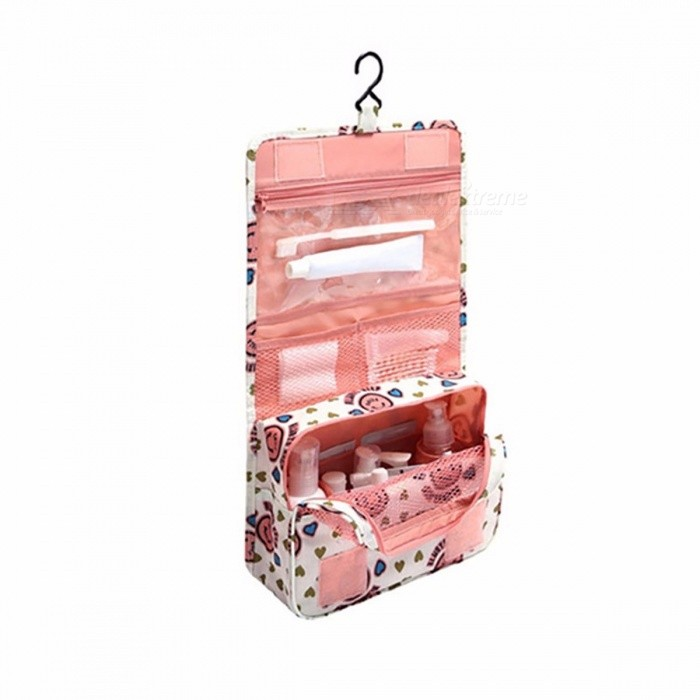 Portable Waterproof Folding Wash Bag, Travel Toiletry Hanging Holder Organizer, Cosmetic Makeup Container Handbag Storage Bag PinkStorage Box &amp; Bag <br>Description<br><br><br><br><br>Type: Storage Bags<br><br><br>Shape: Square<br><br><br><br><br>Feature: Folding,Eco-Friendly<br><br><br>Use: Travel<br><br><br><br><br>Thickness: 6 wire<br><br><br>Form: Three-dimensional Type<br><br><br><br><br>Applicable Space: Wardrobe<br><br><br>Material: Polyester<br><br><br><br><br>Brand Name: BalleenShiny<br><br><br>Pattern: Three-dimensional Type<br><br><br><br><br>Classification: Vaccum Compressed Bag<br><br><br>Specification: Other<br><br><br><br><br>Capacity: Other<br><br><br>Product: Other<br><br><br><br><br><br><br><br><br><br><br>Size<br>Folded:24*19.5cm,unfolded:24*43.5cm,1-4cm error<br><br>High Quality Waterproof Material<br>high quality waterproof nylon material,wear-resisting,resistance soiling,good ventilation<br><br>Carry handle &amp;amp; Hanging hook<br>carry handle, protable, easy to carry<br><br>Plastic hanging hook,can hanging everywhere you want<br><br>Humanization compartment layout<br>multi-pocket,to satisfy all you need<br><br>Velcro design<br>super power velcro,strong viscosity,durable<br>