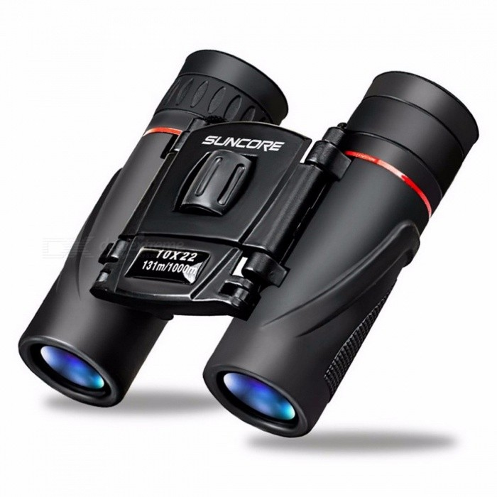 Outdoor HD Binoculars 10X22 Waterproof Red Circle FMC Telescope BAK-7 Prisms Portable Field-glasses for Traveling Hiking Sports as the picture