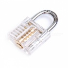 NAIERDI Transparent Visible Pick Cutaway Practice Padlock Lock with Broken Key Removing Hooks, Lock Extractor Set Locksmith Tool Only Tools