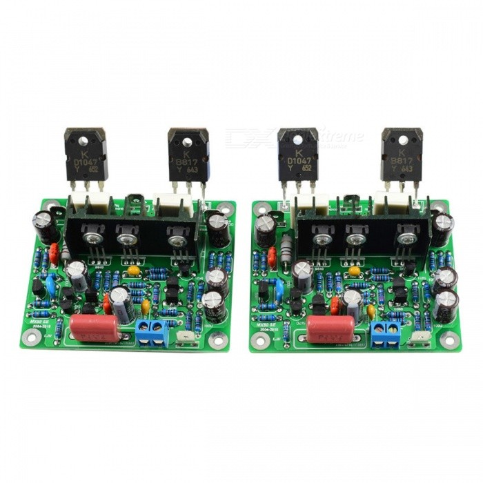 Aiyima MX50 SE 100WX2 Dual Channels Audio Power Amplifiers Board High Quality DIY Kit New Version 2PCS GREEN