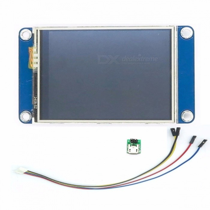 Aihasd-English-Nextion-24-TFT-320-x-240-Resistive-Touch-Screen-UART-HMI-Smart-Raspberry-PI-LCD-Module-Display-for-Arduino-blue