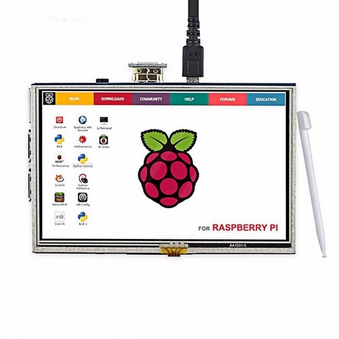 Elecrow-LCD-Display-Touch-Screen-HDMI-800x480-5-Monitor-TFT-with-Touch-Pen-for-Banana-Pi-Raspberry-Pi-2-3-white