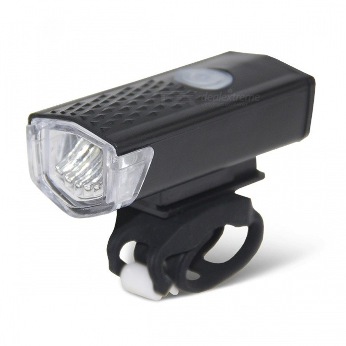 PAGAO 300LM USB Rechargeable 3-Mode LED Bicycle Bike Flashlight Lamp, Cycling MTB Front Light Headlight WhiteBike Lights<br>Description<br><br><br><br><br>Power Supply: Battery<br><br><br>Mounting Placement: Frame<br><br><br><br><br>Brand Name: PAGAO<br><br><br><br><br><br><br><br><br><br><br><br><br>Specification:<br><br><br><br>Brand new and high quality<br> Fit for 20mm-40mm handlebars<br> Specially designed reflector protects the vision of on comers<br> A good partner for safe riding at night, suitable for mountain bike cyclist<br><br> Material: aluminum alloy, PC and ABS<br> Color: Black ,White &amp;nbsp;(lighting color is white)<br> Size: Approx. 6.5 x 3 x 2.5cm (L x W x H)<br> Power Source: USB rechargeable&amp;nbsp;800mAh&amp;nbsp;Li-Polymer battery<br> Charging Time: 3hrs by USB<br> Luminance:&amp;nbsp;300 lumens&amp;nbsp;( super bright )<br> Bulb: high power LED<br> 3 Modes: High bright, medium bright, flash<br> Running time: 3hrs in high mode, 5hrs in medium mode, 12hrs in flash mode<br> Mounting Placement: Handlebar<br><br>Package included:<br><br><br><br>1 x Bike Front Light<br> 1 x USB Cable<br><br><br>(Without retail package)<br>