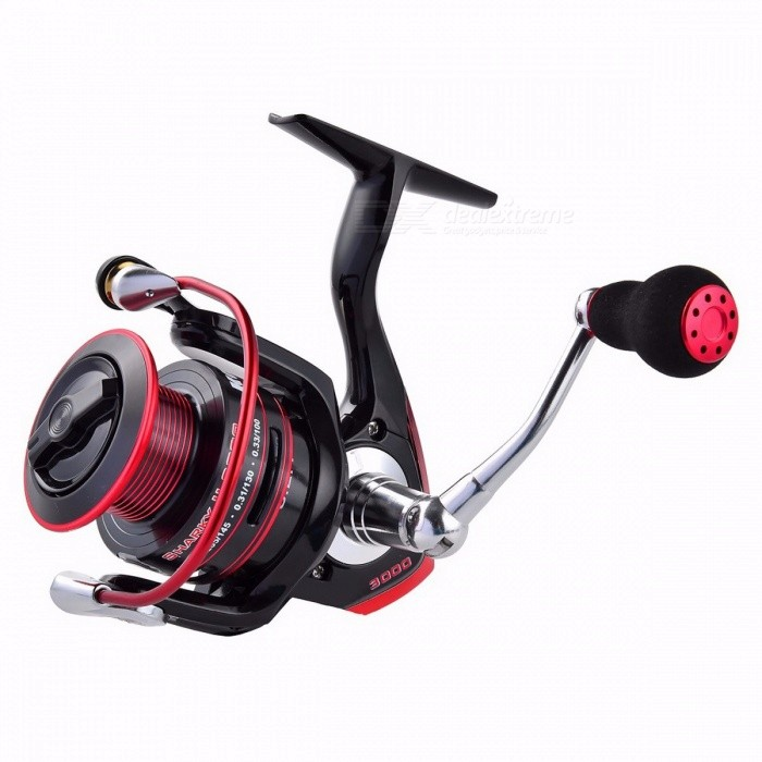 KastKing Sharky II New Water Resistant Carbon Drag Spinning Reel Large Spool, 19KG Max Drag Freshwater Fishing Reel 5000 Series/11Fishing Reels &amp; Rods<br>Description<br><br><br><br><br>Fishing Method: Spinning<br><br><br>Fishing Reels Type: Pre-Loading Spinning Wheel<br><br><br><br><br>Brand Name: KastKing<br><br><br>Position: Lake,Reservoir Pond,River,Stream<br><br><br><br><br>Baits Type: Fake Bait<br><br><br><br><br><br><br><br><br><br><br><br><br>Features:<br><br><br>1.&amp;nbsp;&amp;nbsp;Sealed components resist water and dirt&amp;nbsp;&amp;nbsp;&amp;nbsp;– Sealed Drag, Spool, One-way Clutch, and Main Body<br><br><br>2.Best-in-class Up to&amp;nbsp;&amp;nbsp;19KG Max Drag Power&amp;nbsp;– Unique Spool Knob, 3-set Carbon Fiber Drag Washers, and Strengthened Gear <br><br><br>3.Carbon Fiber Drag System: powerful, smooth and reliable <br><br><br>4.Power Launch Spool with Long Casting Lip <br><br><br>5.Unique Design Spool - Lighter yet Stronger <br><br><br>6.10+1 Shielded Stainless Steel Ball Bearings&amp;nbsp;– Smooth and Silent<br>