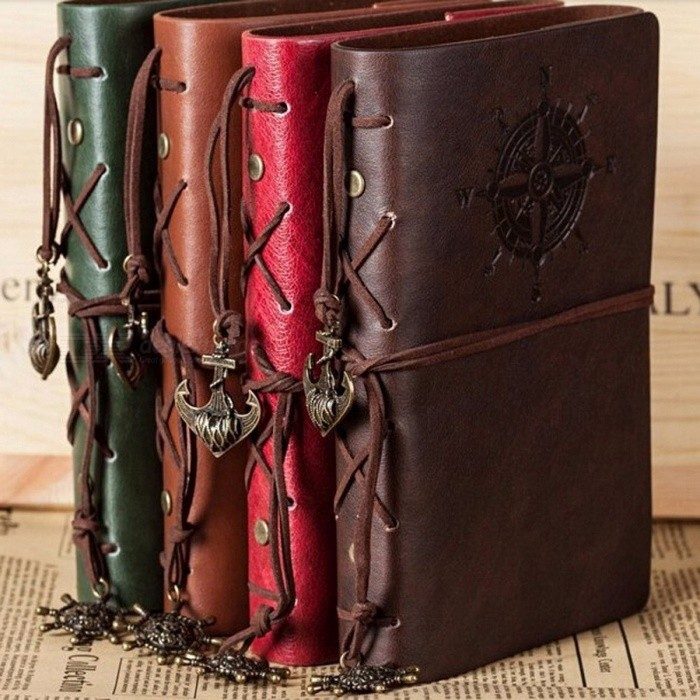 Spiral Notebook, Diary Notepad Vintage Pirate Anchors PU Leather Note Book, Replaceable Stationery Gift Traveler Journal Small 105x145mm/BlueNotebook &amp; Tags<br>Description<br><br><br><br><br>Side Binding Mode: Spiral<br><br><br>Usage: Gift<br><br><br><br><br>With Lock: No<br><br><br>Brand Name: PHANTACI<br><br><br><br><br>Cover Material: Leather<br><br><br>Cover Hardness: Soft Copybook<br><br><br><br><br>Style: Vintage<br><br><br>Use: Travel Journal<br><br><br><br><br>Type: Composition Book<br><br><br>Style: Spiral<br><br><br><br><br>Inner Pages: Other<br><br><br><br><br><br><br><br><br><br><br><br><br>Feature:<br><br><br>Cover Material: PU Leather<br><br><br>Inner Pages: About 75 sheets(150 pages)<br><br><br>Cover Size: B5(16.5*23.5cm), A5(13.0*18.5cm), A6(10.5*14.5cm)<br><br><br>Color: Brown, Red, Gray, Coffee, Blue<br>