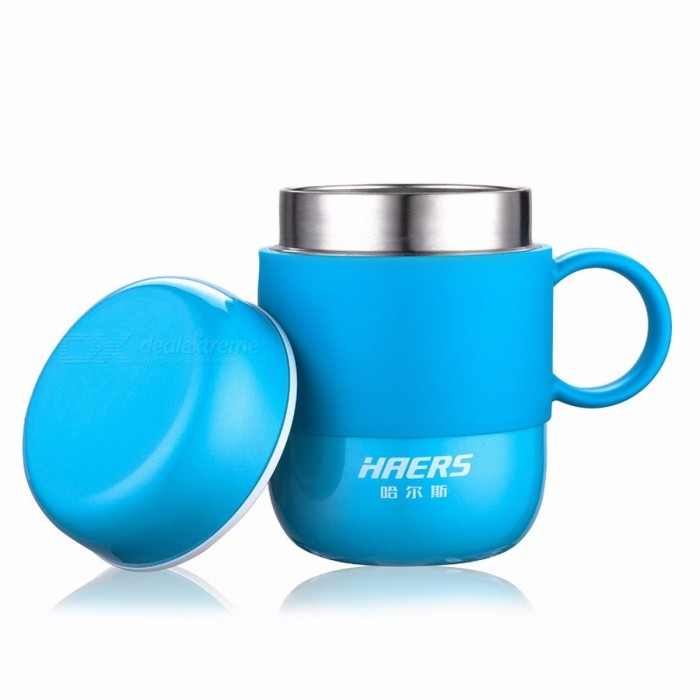 HAERS LBG-280-11 Stainless Steel Coffee Tea Mug Cup with Cap / Lid and Handle for Home, Office, Outdoor Use BlueCups &amp; Bottles<br>Description<br><br><br><br><br>Drinkware Type: Mugs<br><br><br>Certification: CIQ,CE / EU,FDA,LFGB<br><br><br><br><br>Accessories: With None<br><br><br>Specification: 1<br><br><br><br><br>Feature: Eco-Friendly,Stocked<br><br><br>Style: Brief<br><br><br><br><br>Material: Metal<br><br><br>Metal Type: Stainless Steel<br><br><br><br><br>Brand Name: HAERS<br><br><br>Shape: Handgrip<br><br><br><br><br>Type: Coffee Mugs<br>
