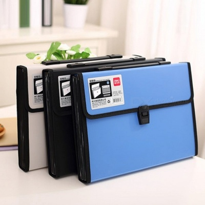 Deli Business Bag Water Resistant A4 Paper File Folder Document Bag School Supplies Stationery Office Expanding Wallet  as picture