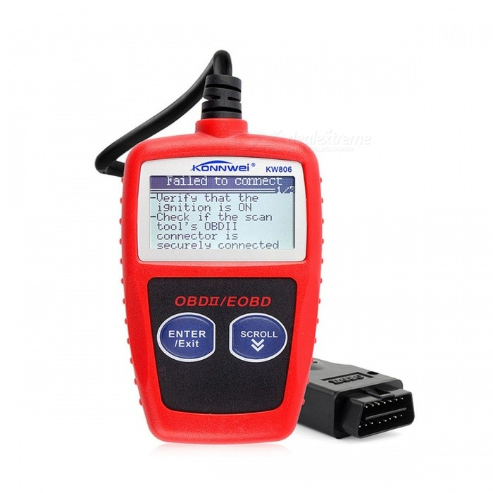 KONNWEI KW806 Universal 2 BUS OBDII Car Diagnosis Scaner OBD2 Can Scanner Error Code Reader Scan Tool OBD PK AD310 ELM327 V1.5 REDCode Readers and Scan Tools<br>Description<br><br><br><br><br>Brand Name: KONNWEI<br><br><br>Language: Dutch,English,French,German,Spanish<br><br><br><br><br>Software Update: Yes<br><br><br>Item Type: Code Readers &amp;amp; Scan Tools<br><br><br><br><br>Special Features: Other<br><br><br><br><br><br><br><br><br><br><br>Item Type: Code Readers &amp;amp; Scan Tools <br><br><br>Special Features: OBDII <br><br><br>Item Type: Code Readers &amp;amp; Scan Tools <br><br><br>Product: KONNWEI KW806 KW 806 <br><br><br>Function 1: Universal Car OBDII Can Scanner <br><br><br>Function 2: Error Code Reader Scan Tool <br><br><br>Function 3: OBD 2 BUS OBD2 Diagnosis Scaner <br><br><br>Function 4: PK Ancel AD310 ELM327 V1.5 <br><br><br><br>How do i know Konnwei KW806&amp;nbsp;support my car or not ? <br><br><br><br>If your Vehicle age&amp;nbsp;within below range, it will be suitable <br><br><br><br>1.&amp;nbsp;European cars:&amp;nbsp;Works on cars after&amp;nbsp;2003&amp;nbsp;to 2016&amp;nbsp;vehicles (with standard EOBD, CAN) <br><br><br>2.&amp;nbsp;American(North &amp;amp; South) and AU Cars:&amp;nbsp;Works on cars after&amp;nbsp;1996 to 2016&amp;nbsp;vehicles (with standard OBDII,CAN) <br><br><br>3.&amp;nbsp;Asian Cars:&amp;nbsp;Works on cars&amp;nbsp;After&amp;nbsp;2005 to 2016&amp;nbsp;(with Standard OBDII/JOBD),&amp;nbsp;Chinese Cars after&amp;nbsp;2009 <br><br><br>4. Konnwei KW806&amp;nbsp;also supports <br>local car makers, such as VAZ, UAZ, only the year of car is match, it <br>will be fit.&amp;nbsp;Diesel engine cars will be support as well. for SSANGYONG, <br>Normally it is suitable after 2011, LADA after 2013 are suitable. <br><br><br>American Car List:&amp;nbsp; <br><br><br>Fit&amp;nbsp;for Chrysler ,Fit&amp;nbsp;for Ford ,Fit&amp;nbsp;for GM ,Fit&amp;nbsp;for Jeep <br><br><br>European Car List: <br><br><br>Fit&amp;nbsp;for Alfa Romeo&amp;nbsp;,Fit&amp;nbsp;for SAAB &amp;nbsp;,Fit&amp;nbsp;for Acura&amp;nbsp;&amp;nbsp;,Fit&amp;nbsp;for Opel <br><br><br>Fit&amp;nbsp;for Audi&amp;nbsp;,Fit&amp;nbsp;for Seat &amp;nbsp;,Fit&amp;nbsp;for Peugeot&amp;nbsp;,Fit&amp;nbsp;for Renault <br><br><br>Fit&amp;nbsp;for Bentley&amp;nbsp;,Fit&amp;nbsp;for Skoda ,Fit&amp;nbsp;for Daewoo <br><br><br>Fit&amp;nbsp;for Benz ,Fit&amp;nbsp;for Daihatsu&amp;nbsp;&amp;nbsp;,Fit&amp;nbsp;for Land Rover <br><br><br>Fit&amp;nbsp;for BMW ,Fit&amp;nbsp;for Vauxhall ,Fit&amp;nbsp;for Citroen <br><br><br>Fit&amp;nbsp;for Volvo ,Fit&amp;nbsp;for Fiat&amp;nbsp;,Fit&amp;nbsp;for VW ,Fit&amp;nbsp;for Ford&amp;nbsp;,Fit&amp;nbsp;for Jaguar &amp;nbsp; <br><br><br>Asian Car List:&amp;nbsp; <br><br><br>Fit&amp;nbsp;for KIA&amp;nbsp;,Fit&amp;nbsp;for Isuzu&amp;nbsp;,Fit&amp;nbsp;for Honda&amp;nbsp;,Fit&amp;nbsp;for Mitsubishi <br><br><br>Fit&amp;nbsp;for Hyundai&amp;nbsp;&amp;nbsp;,Fit&amp;nbsp;for Dacia&amp;nbsp;&amp;nbsp;,Fit&amp;nbsp;for Lexus&amp;nbsp;,Fit&amp;nbsp;for Mazda&amp;nbsp; <br><br><br>Fit&amp;nbsp;for Nissan&amp;nbsp;&amp;nbsp;,Fit&amp;nbsp;for Subaru&amp;nbsp;,Fit&amp;nbsp;for Suzuki <br><br><br>Fit&amp;nbsp;for Toyota <br><br><br><br><br><br><br>Konnwei KW806&amp;nbsp;support protocols : <br><br><br>1.SAE J1850 PWM(41.6Kbaud)<br>2.SAE J1850 VPW(10.4Kbaud)<br>3.ISO9141-2(5 baud init,10.4Kbaud)<br>4.ISO14230-4 KWP(5 baud init,10.4 Kbaud)<br>5.ISO14230-4 KWP(fast init,10.4 Kbaud)<br>6.ISO15765-4 CAN(11bit ID,500 Kbaud)<br>7.ISO15765-4 CAN(29bit ID,500 Kbaud)<br>A.SAE J1939 CAN(29bit ID,250*Kbaud)<br>B.USER1 CAN(11*bit ID,125*Kbaud)<br>C.USER2 CAN(11*bit ID,50*kbaud)<br><br><br>Features:<br><br><br>1.&amp;nbsp;New and high quality, specially designed for car owners<br><br><br>2.&amp;nbsp;Works with all 1996 and later OBDII compliant US,European and Asian vehicles<br><br><br>3.&amp;nbsp;Easily determines the cause of the Check Engine Light ( MIL)<br><br><br>4.&amp;nbsp;Retrieves generic (P0, P2, P3, and U0) and manufacturer specific (P1, P3, and U1) codes<br><br><br>5.&amp;nbsp;Turns off Check Engine Light (MIL), clears codes and resets monitors Displays DTC definitions on unit screen<br><br><br>6.&amp;nbsp;Views freeze frame data<br><br><br>7.&amp;nbsp;Displays monitor and I/M readiness status (emissions)<br><br><br>8.&amp;nbsp;Identifies pending codes<br><br><br>9.&amp;nbsp;Bilingual interface and DTC definitions in English or Spanish<br><br><br>10.&amp;nbsp;Retrieves vehicle information (VIN, CID and CVN)<br><br><br>11.&amp;nbsp;Supports CAN (Controller Area Network) and all other current OBD-II protocols<br><br><br>12.&amp;nbsp;Large easy-to-read backlit LCD screen<br><br><br>13.&amp;nbsp;Free DTC lookup software CD<br><br><br>14.&amp;nbsp;Extremely easy to use and highly reliable<br><br><br>15.&amp;nbsp;Small in size and conveniently fits in your for palm<br><br><br>16.&amp;nbsp;Unexpected strong and stable performance<br><br><br>17.&amp;nbsp;Small in size and conveniently fits in your for palm<br><br><br>18.&amp;nbsp;A useful diagnostic tool for professional technicians or car owners<br><br><br>19.&amp;nbsp;Better than ELM327 V&amp;nbsp;1.5 OBD 2 ancel ad310<br>