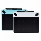 Wacom CTL-490 Intuos Draw Digital Graphic Drawing Tablet Pad 2048 Pressure Levels White Blue Colour for Choose White