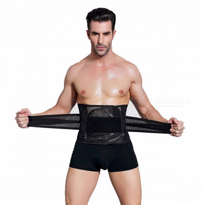 Buy Wechery Slimming Belt, Body Belly Shaper Corset,  Slim Cincher Girdle, Abdomen Tummy Shaperwear Waist Trainer for Men XXL/Black with Litecoins with Free Shipping on Gipsybee.com