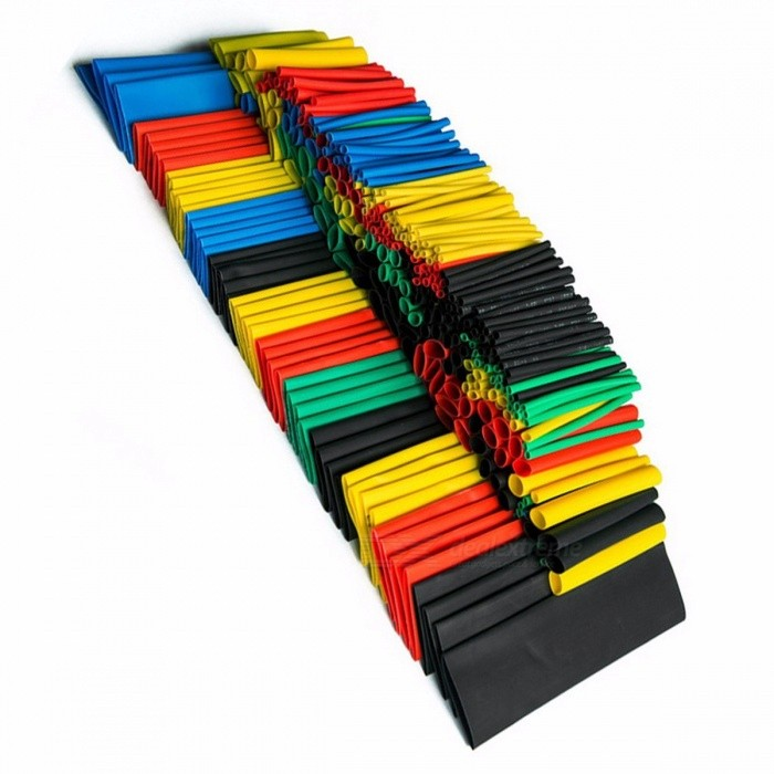 Colorful 328pcs Assorted Heat Shrink Tube Assortment Wrap Electrical Insulation Cable Tubing 5 Colors 8 Sizes Combo Set