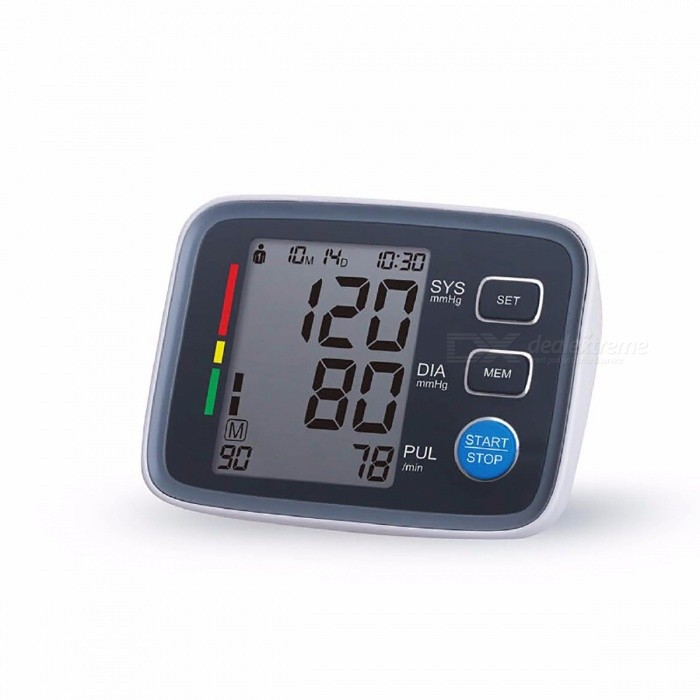 Buy Big LCD Display Digital Blood Pressure Monitor, Tonometer Sphygmomanometer Pulsometros Health Monitor for Heart Blood Gray with Litecoins with Free Shipping on Gipsybee.com