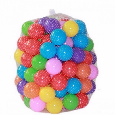 100Pcs/Lot Eco-Friendly Colorful Soft Plastic Water Pool Ocean Wave Stress Air Ball, Baby Funny Toys for Outdoor Fun Sports Colorful