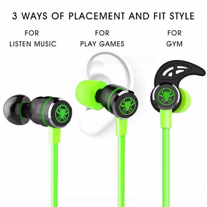 PLEXTONE G20 Stereo Bass 3.5mm Wired In-ear Earphone with Microphone, Magnetic Gaming Headset Earbuds for Phone Computer