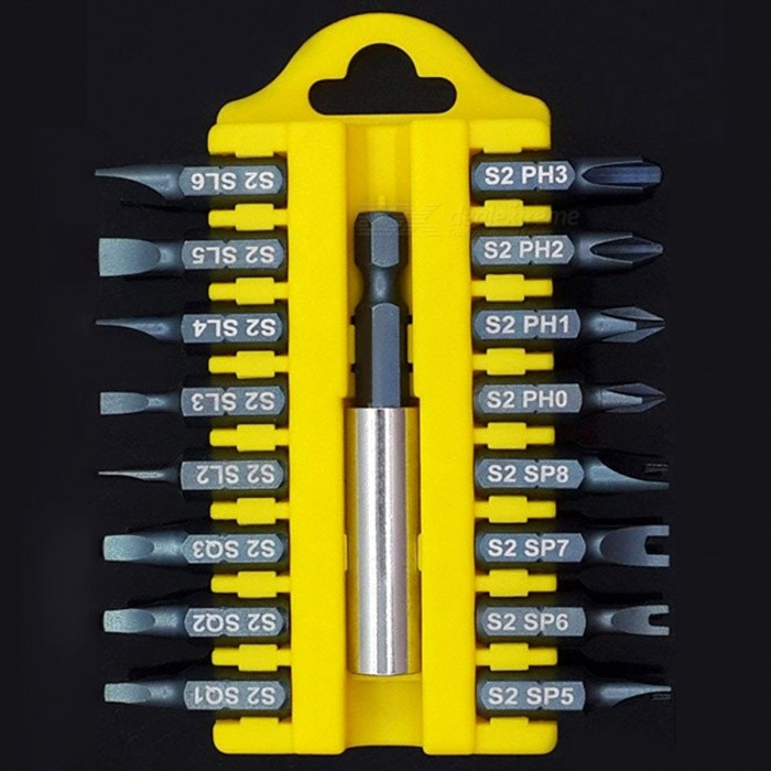 17Pcs Professional Magnetic Holder Torx Hex Star Security Tamper Proof Screwdrivers Bit Set with Plastic Storage Case DOther Tools<br>Description<br><br><br><br><br>Screw Head Type: Triangle,Spanner,Torx,Pozidriv,Slotted,Square Socket,Y-Type,Hex,Phillips<br><br><br>Brand Name: BROPPE<br><br><br><br><br>With Handle Or Not: No<br><br><br>Material: Alloy Steel<br><br><br><br><br>Features: Multifunctional<br><br><br>Magnetic: Yes<br><br><br><br><br>Type: Magnetic Screwdriver<br><br><br>is_customized: No<br><br><br><br><br><br><br><br><br><br><br><br>100% brand new and high quality.<br><br><br>17PC Magnetic Bit Set Screwdriver Holder Torx Hex Star Spanner Screws.<br><br><br>Security Bit Set Screwdriver Bit Tool Holder.<br><br><br>Ideal accessory for cordless screwdrivers and drills with variable speed.<br><br><br>This 17 piece security bit set is supplied in a plastic compact case<br><br><br>For repair and maintenance on electronic, electrical and mechanical equipment.<br><br><br>Specifications:<br><br><br>Material: S2 Alloy Steel<br><br><br>1/4(6.35mm) Hex Shank Magnetic Holder<br><br><br>size:<br><br><br>A B C D Four different models<br><br><br><br><br><br><br><br><br>A :<br><br><br>Phillips:&amp;nbsp;PH0-PH1-PH2-PH3<br><br><br>Slotted:&amp;nbsp;SL2-SL3-SL4-SL5-SL6<br><br><br>Hex:&amp;nbsp;1.5mm-2mm-2,5mm-3mm-4mm-5mm-6mm<br><br><br><br><br><br>B :<br><br><br>Phillips:&amp;nbsp;PH0-PH1-PH2-PH3<br><br><br>Torx:&amp;nbsp;T5-T6-T7-T8-T9-T10-T15-T20-T25-T27-T30-T40&amp;nbsp;(The middle of the T5 without hole, is an organic whole.)<br><br><br><br><br><br>C&amp;nbsp;:<br><br><br>Spanner: SP5-SP6-SP7-SP8<br><br><br>Phillips:&amp;nbsp;PH0-PH1-PH2-PH3<br><br><br>Slotted:&amp;nbsp;SL2-SL3-SL4-SL5-SL6<br><br><br>Square Socket:&amp;nbsp;SQ1-SQ2-SQ3<br><br><br><br><br><br>D&amp;nbsp;:<br><br><br>Phillips: PH1-PH2-PH3<br><br><br>Pozidriv:&amp;nbsp;PZ1-PZ2-PZ3<br><br><br>Y-Type: 3.0-4.5<br><br><br>Spanner: SP5-SP6-SP7-SP8<br><br><br>Triangle: 1.8-2.0-2.3-2.7<br>