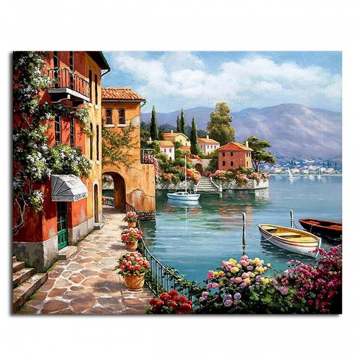 GX6917 Unique Pictures DIY Painting By Numbers for Living Room, DIY Digital Canvas Oil Painting for Home Decoration  framed 40x50cm