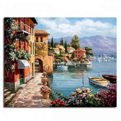 GX6917 Unique Pictures DIY Painting By Numbers for Living Room, DIY Digital Canvas Oil Painting for Home Decoration  no frame 40x50cm